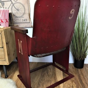 Vintage reclaimed wooden single Cinema seat – R&T Home ...
